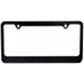 BLVD-LPF Popular Bling 7 Row Black Color Crystal Metal Chrome License Plate Frame with Screw Caps 1 Frame