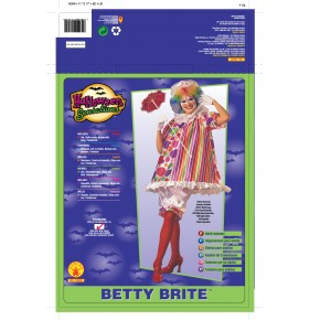 Rubie/'s Betty Brite Ladies Clown Fancy Dress Costume One Size