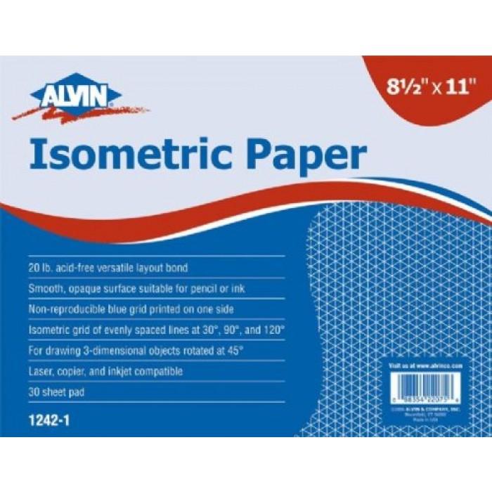 geekshive alvin isometric paper pad 11 x 17 1242 2 graph