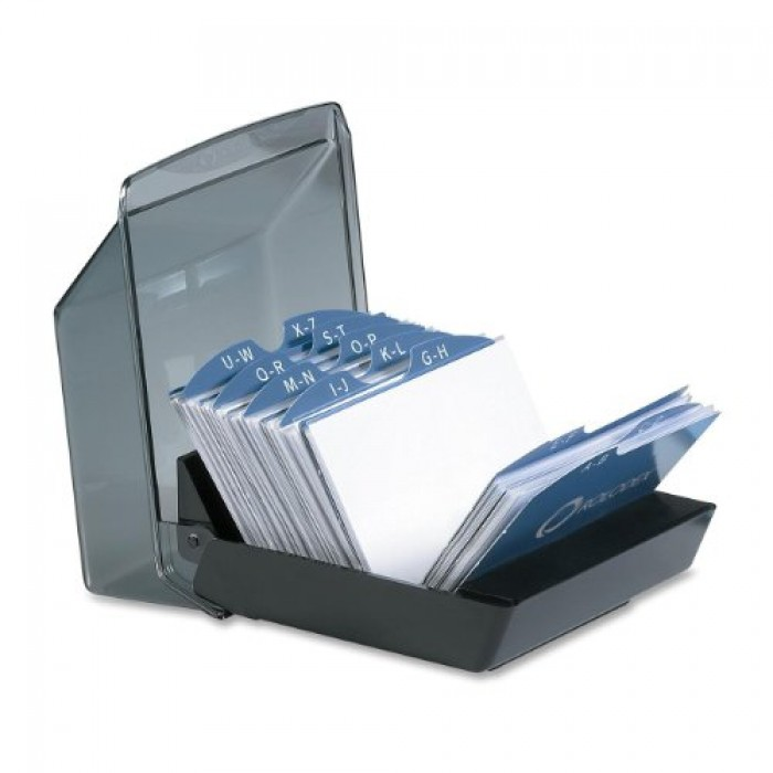 GeeksHive: Rolodex (Rubbermaid) Covered Tray Business Card File ...
