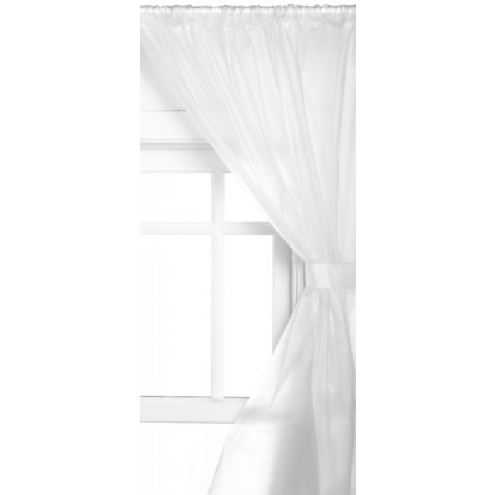 Geekshive Carnation Home Fashions Vinyl Bathroom Window Curtain Frosted Clear Draperies