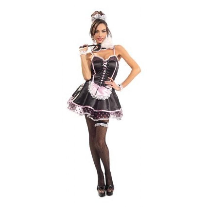 GeeksHive: Naughty French Maid Costume, Black, M - Women ...