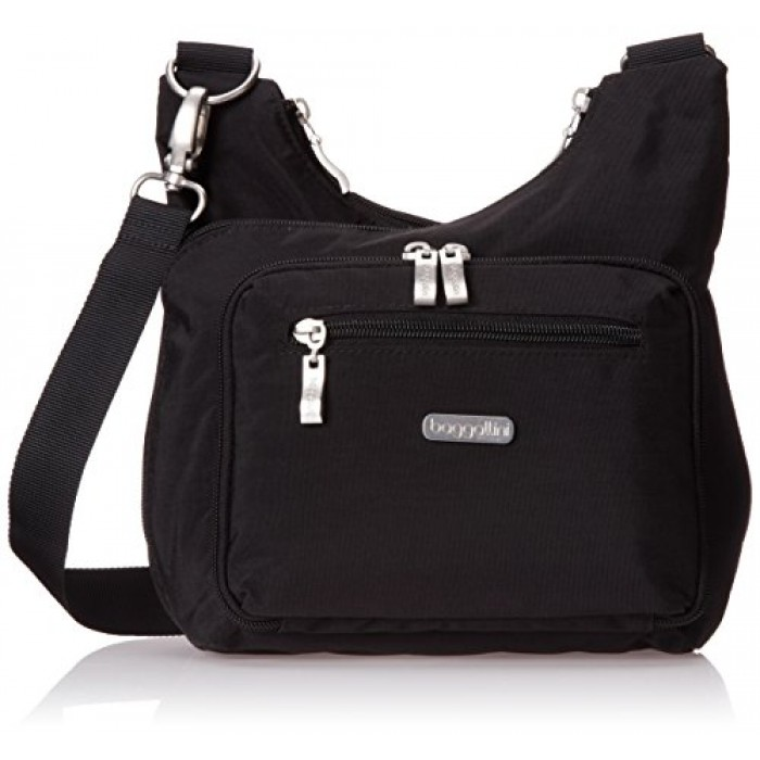GeeksHive  Baggallini Criss Cross - Black with Sand Lining - Cross ... 985e6f798143d