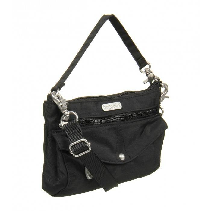 GeeksHive  Baggallini Plaza Mini - Black with Sand Lining - Cross ... 27bea7a640265