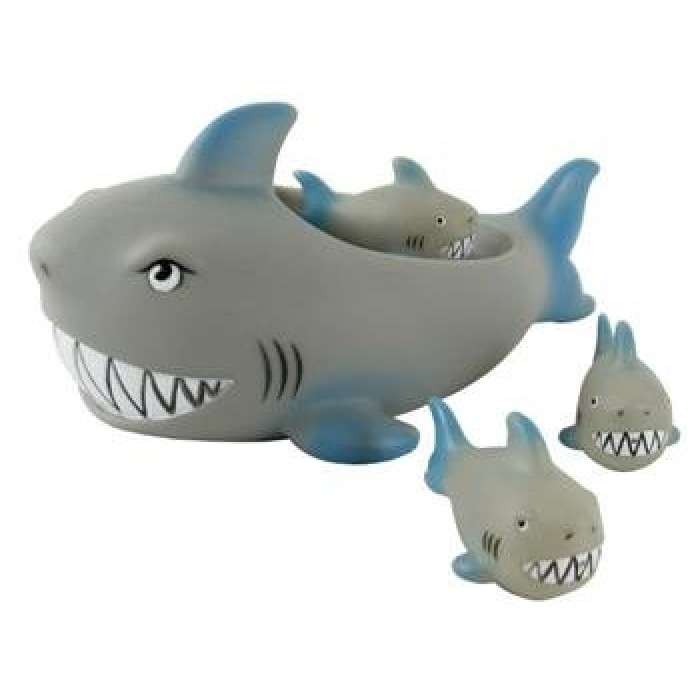 Shark Toys At Walmart : Geekshive rubber shark family bathtub pals floating