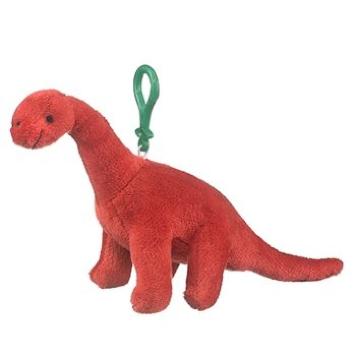 geekshive wildlife brachiosaurus plush red dinosaur