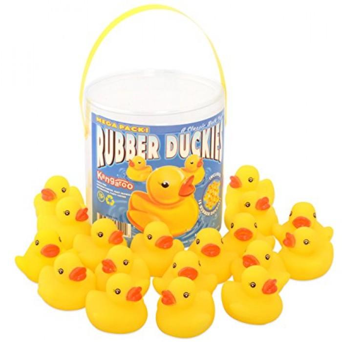 GeeksHive: Kangaroo\'s - Rubber Duck Baby Bath Toy (18-Pack) - Bath ...