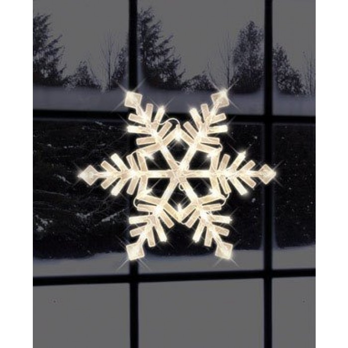 impact innovations christmas lighted window decoration snowflake