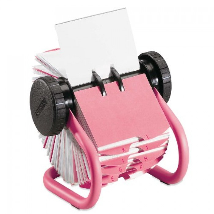 GeeksHive: Rolodex (Rubbermaid) Pink Metal Rotary Business Card File ...