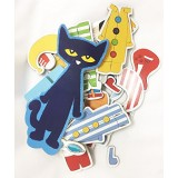 Kids Preferred Pete The Cat Wood Magnetic Dress Up Set (34 Piece)