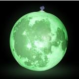"""Inflatable Glow in the Dark Moon, 12"""" Diameter"""