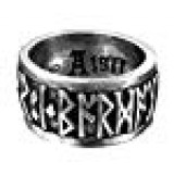 """Runeband Ring Nordic """"Poetry is in Battle"""" Runes by Alchemy Gothic - size 11"""