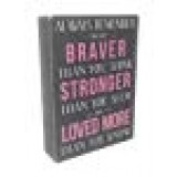 """""""Always Remember"""" Box Sign - 7 x 5 Inches"""