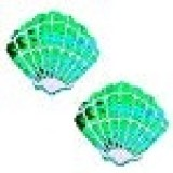 Ariel Green Mermaid Sequin Shell Nipztix Pasties Nipple Covers