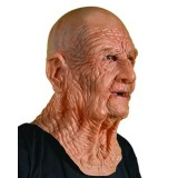 Zagone DOA Mask Old Dead Bald Wrinkly Man Super Soft Latex