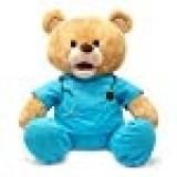 """Cuddle Barn   Feel Good Glenn 10"""" Bear Animated Stuffed Animal Plush Toy   Teddy Bear in Scrubs Sings I Feel Good"""