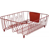 Rubbermaid  Antimicrobial Small Dish Drainer, Red
