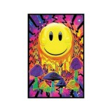 (23x35) Have a Nice Trip Flocked Blacklight Poster