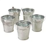 Mini Metal Buckets - 12 per pack