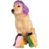 Pet Costume, Small to Medium, Purple Short Bob Wig