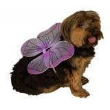 Rubies Costume Halloween Classics Collection Pet Costume, Medium to Large, Purple Fairy Wings