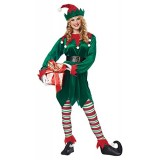California Costumes Men's Christmas Elf Adult, Green/Red, X-Large