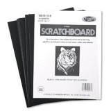 Scratch Art Black Coated Scratchboards 8 1/2 in. x 11 in. pack of 10 10 point