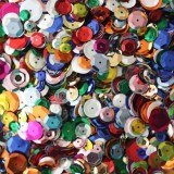 BULK CRAFT CUP SEQUINS MIXED COLORS and SIZES