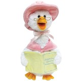 Cuddle Barn Plush Talking Mother Goose Plays 5 Nursery Rhymes - Pink