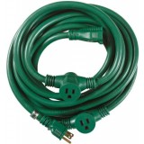 Yard Master 25-Foot 3-Outlet Garden Extension Cord, Green