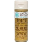 Martha Stewart Crafts Multi-Surface Metallic Acrylic Craft Paint in Assorted Colors (2-Ounce), 32103 Gold