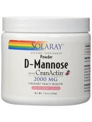 Solaray D-Mannose with cranactin Powder Lemon Berry, 216 Gram