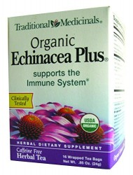 Traditional Medicinals Organic Echnicea Plus, Wrapped Tea Bags, 0.85 Ounce