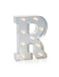 "Darice Silver Metal Marquee Letter 9.875""-R"