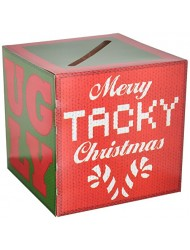 Beistle Ugly Christmas Sweater Party Contest Ballot Box with 10 Ballots, One Size, Multicolor