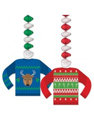"Beistle Ugly Sweater Danglers, 30"", Multicolor"