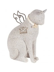 """Faithful Angel"" by Robin Davis Cat Figurine"