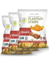 Artisan Tropic Plantain Strips, Cinnamon, Cooked in Sustainable Palm Oil, Paleo Certified, 1.75 Oz, (3 Pack)