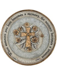 "Carson 10"" Resin ""Treasured Memory"" Garden Stone Plaque"