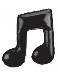 Double Musical Note Black Mylar Balloon