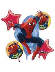 Spiderman Happy Birthday Balloon Bouquet Set