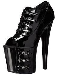 The Highest Heel Women's Dominate-21 Bootie,Black Patent,10 M US