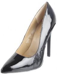 The Highest Heel Women's Hottie Stiletto,Black Patent,9 M US
