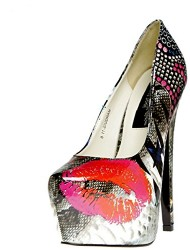 MARQUIS 11 Adult Shoes Lip Print - Size 5