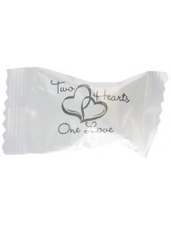 Wrapped Wedding Buttermints 108 Pc Bag (Two Hearts)