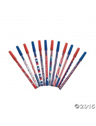 72 Pack Patriotic Pen Assortment