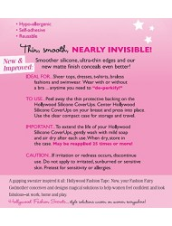 Hollywood Fashion Secrets Silicone Coverups, Light Shade