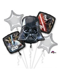 Star Wars Classic Bouquet Of Balloons, Darth Vader, includes 5 balloons