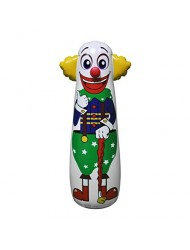 "Jet Creations Inflatable Clown Punching Bag, 42"" Tall"