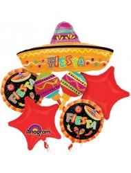 Anagram Spanish Fiesta Fun Party Mylar Foil Balloon Bouquet Set